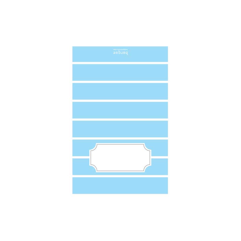 Light Blue Stripe Folded Note
