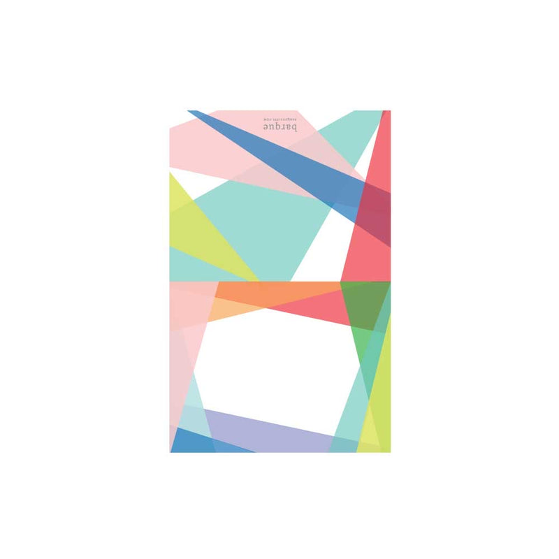 Color Block Border Folded Note