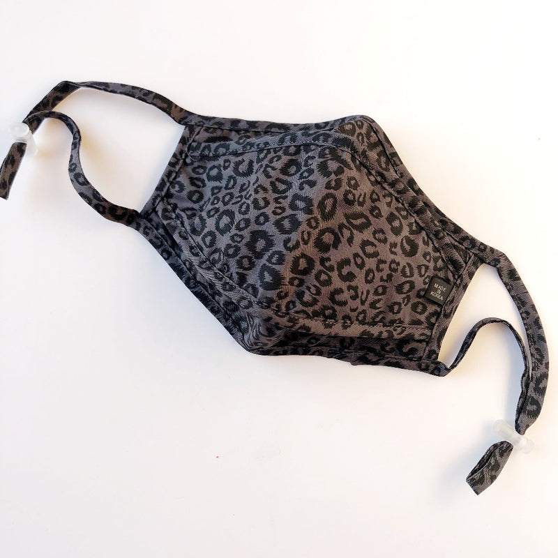 gray leopard face mask on barquegifts.com