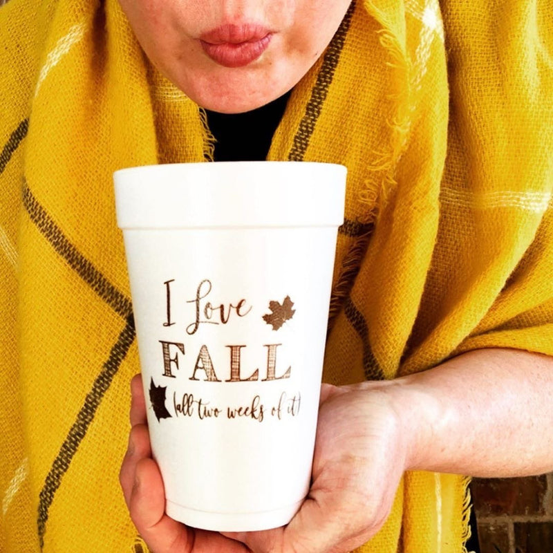 I love fall foam cups on barquegifts.com