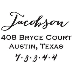 Jacobson Self-Inking Stamp