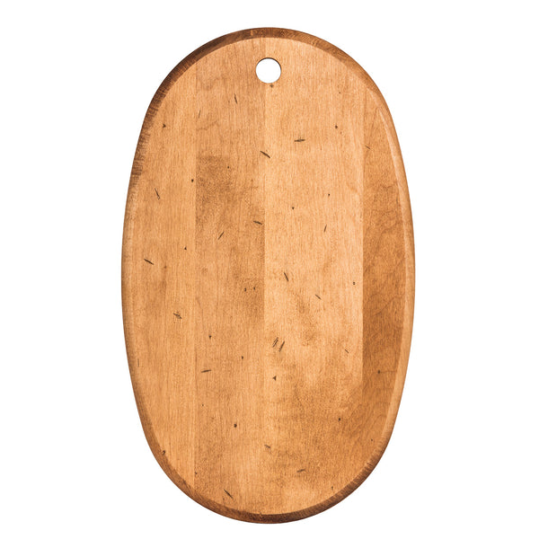 "14.5"" Maple Artisan Oval Serving Board"
