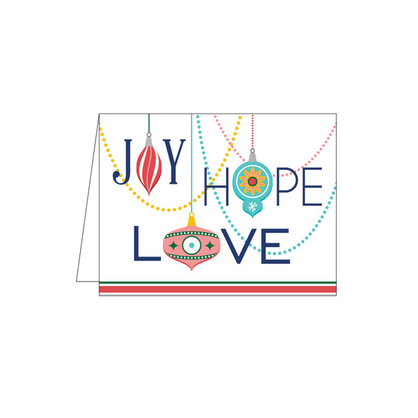 joy hope love holiday card on barquegifts.com