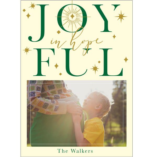 joyful in hope holiday photo card on barquegifts.com