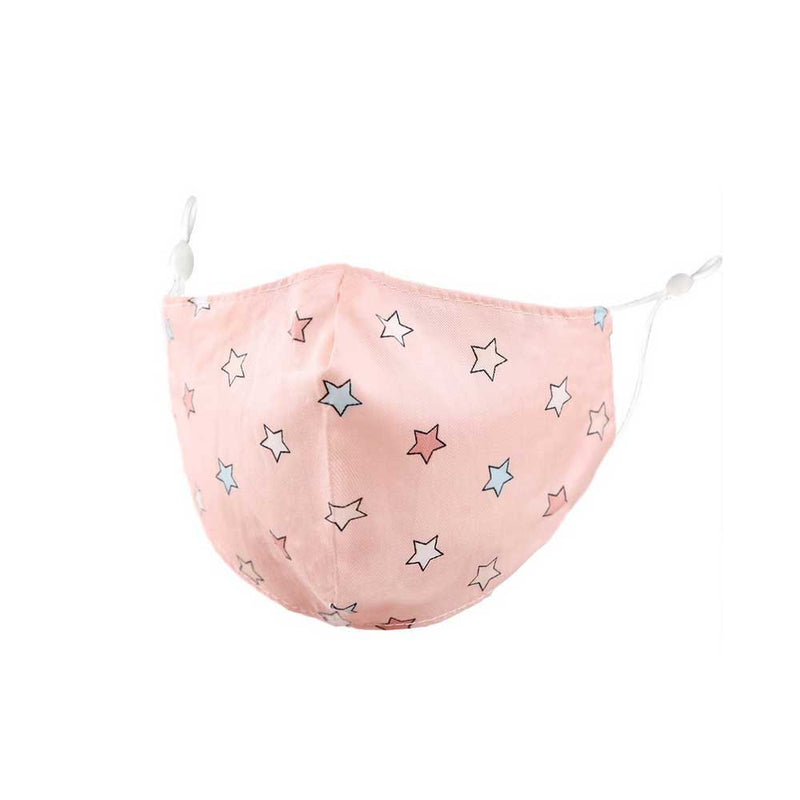 pink stars kids face mask on barquegifts.com
