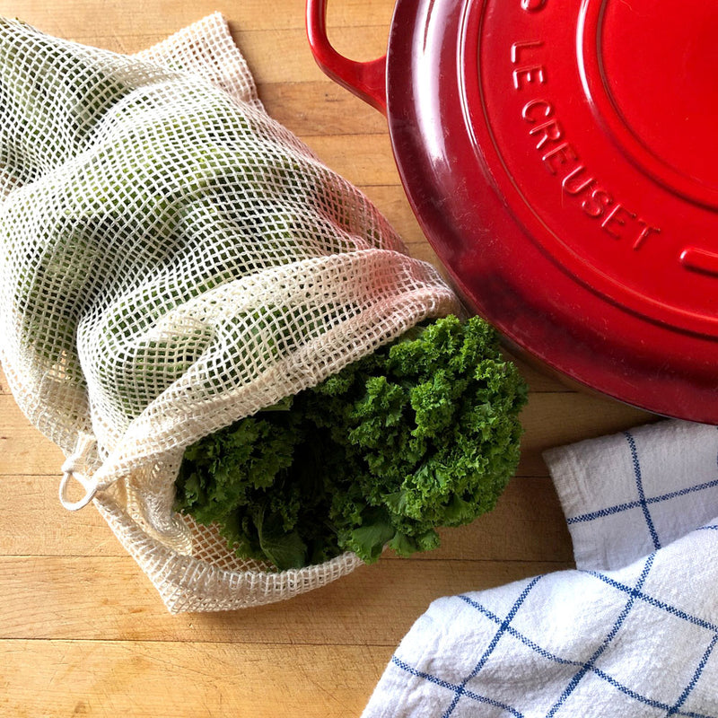 Large Mesh Produce Bag - 100% Cotton
