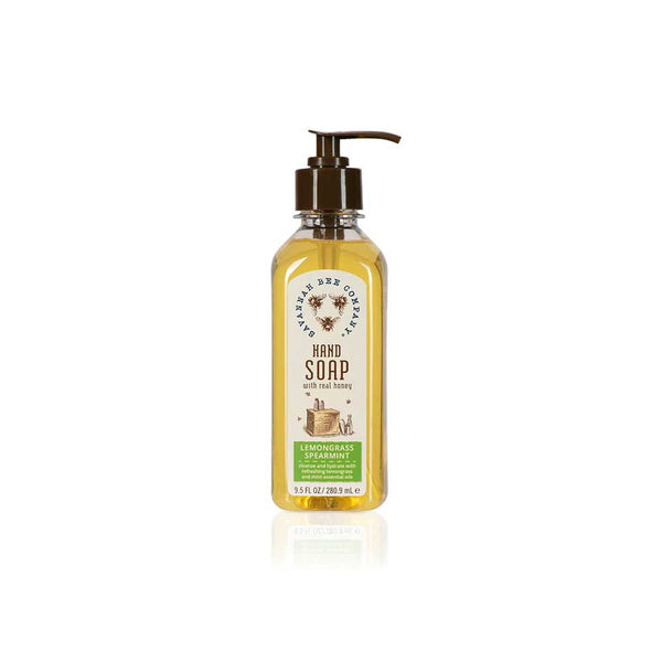 lemongrass spearmint honey hand soap on barquegifts.com