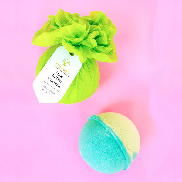 musee bath lime in the coconut bath balm on barquegifts.com