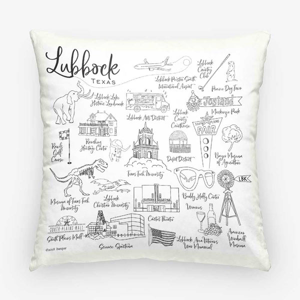 lubbock pillow on barquegifts.com