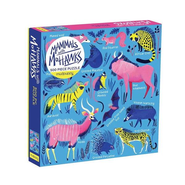 Mammals with Mohawks Puzzle - 500 Pieces