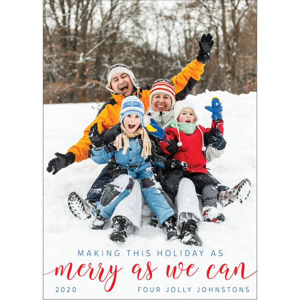 merry as we can photo card on barquegifts.com