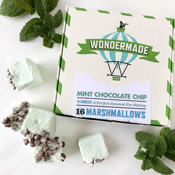 mint chocolate chip marshmallows on barquegifts.com