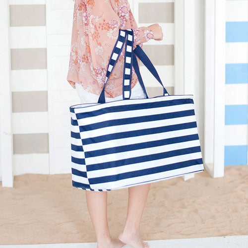Navy Stripe Ultimate Utility Tote