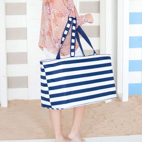 striped utility tote on barquegifts.com