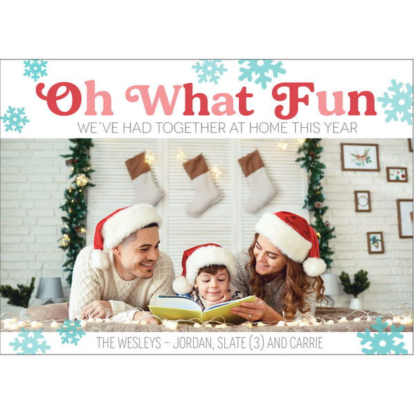 oh what fun holiday photo card on barquegifts.com