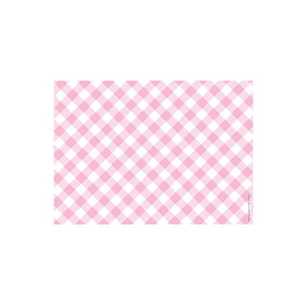 Light Pink Gingham Flat Note