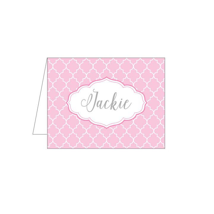 Pink Moroccan Folded Note