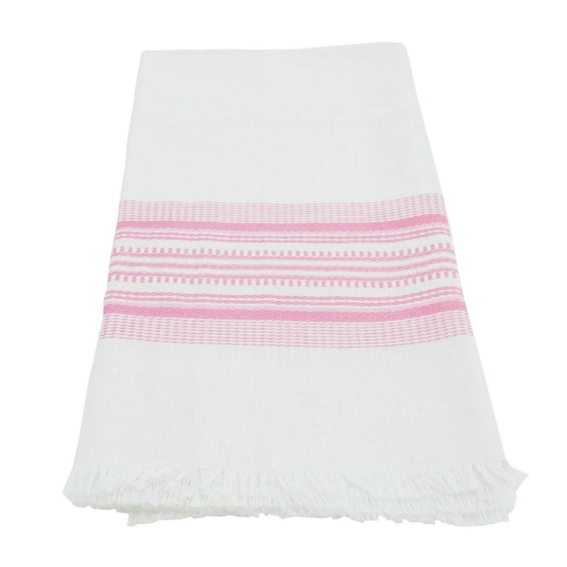 Pink Stripe Antigua Towel