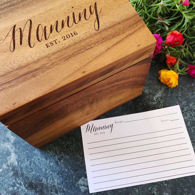 custom wood recipe box