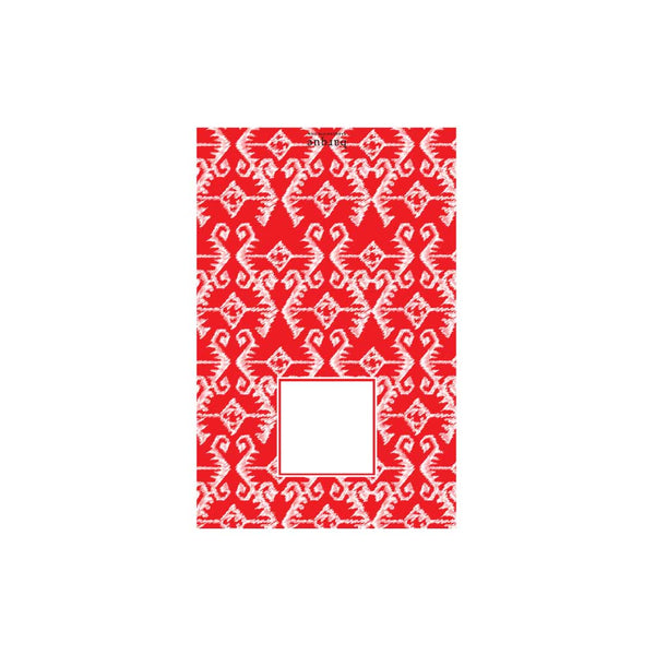Red Aztec Folded Note