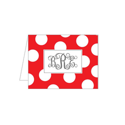Red/White Dots Folded Note