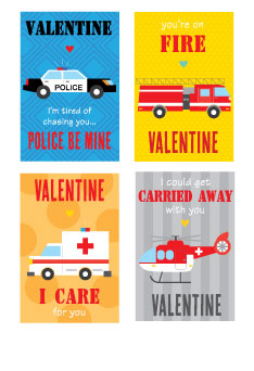 rescue punny valentines on barquegifts.com
