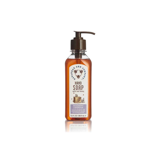savannah bee co rosemary lavender honey hand soap on barquegifts.com