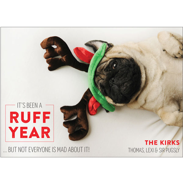 ruff year photo card on barquegifts.com