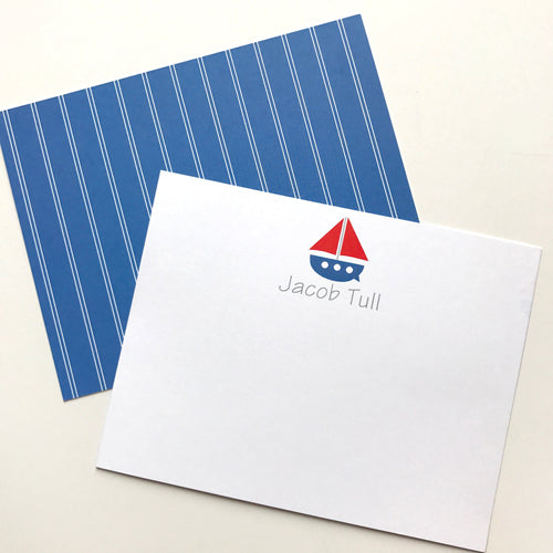 sailboat stationery
