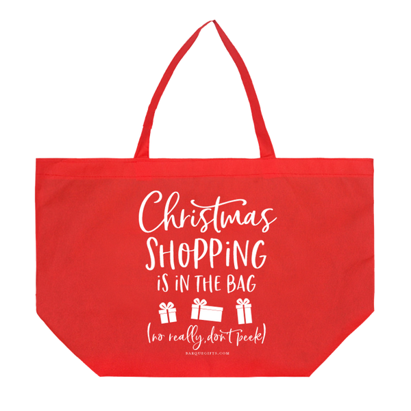 """Christmas Shopping is in the Bag"" Tote"