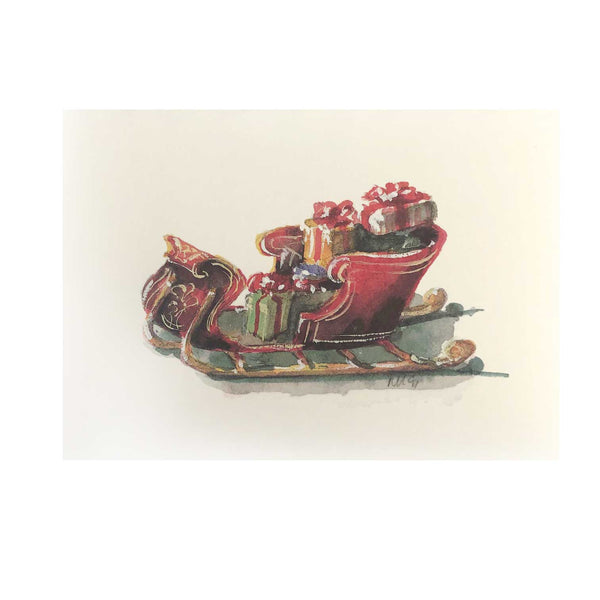Sleigh Full Boxed Holiday Cards  (box of 10)