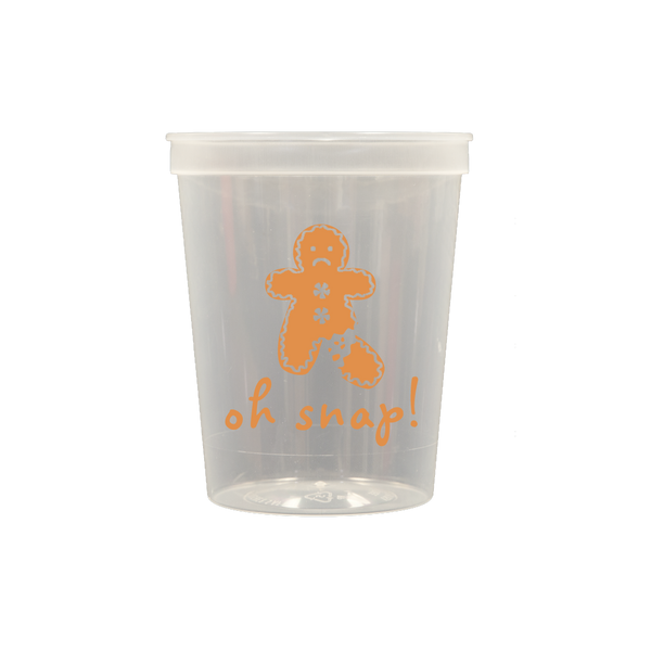 Oh Snap Clear Stadium Cups