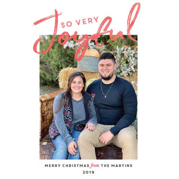 So Very Joyful Holiday Photo Card