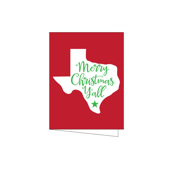 merry christmas y'all holiday cards on barquegifts.com