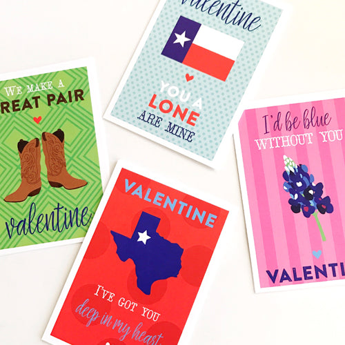 Texas punny valentines on barquegifts.com
