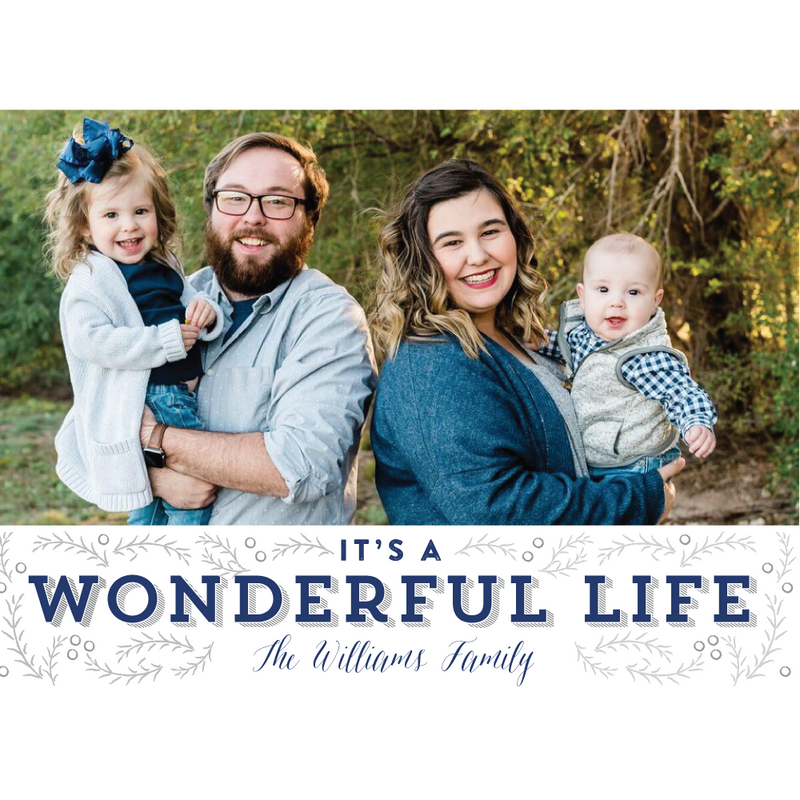 2019 It's a Wonderful Life Holiday Photo Card