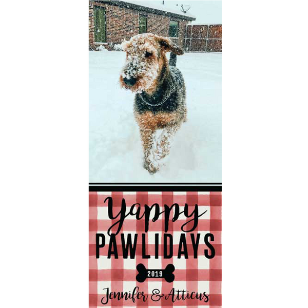 Yappy Pawlidays Holiday Photo Card