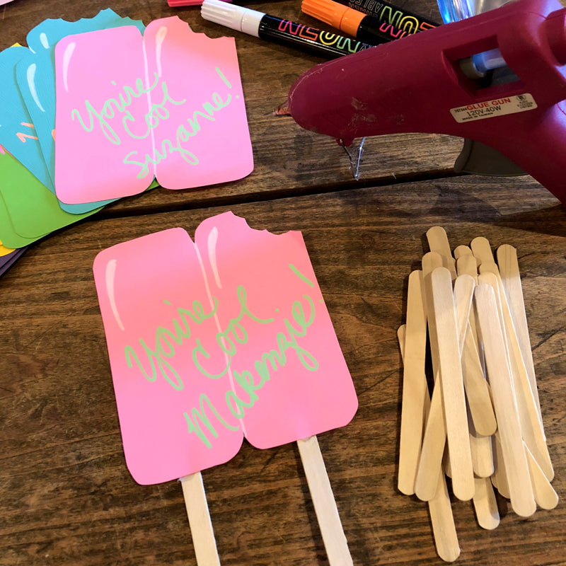 DIY Popsicle Card by barquegifts.com
