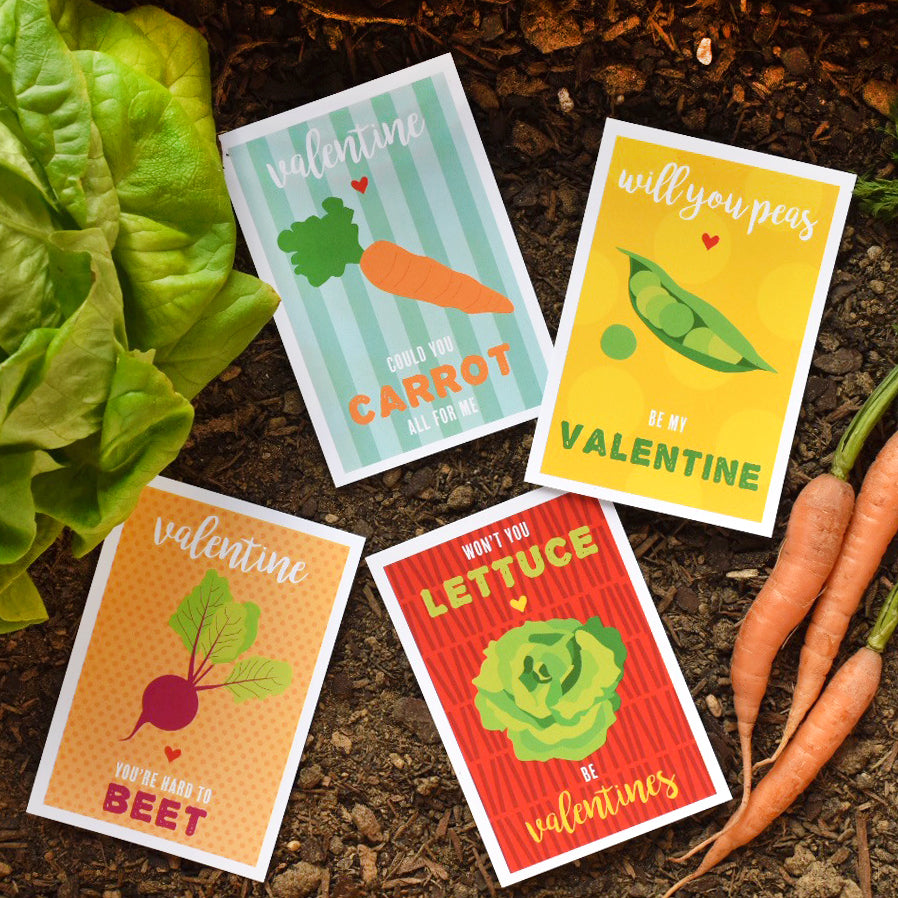 Vegetable Punny Valentines by barquegifts.com
