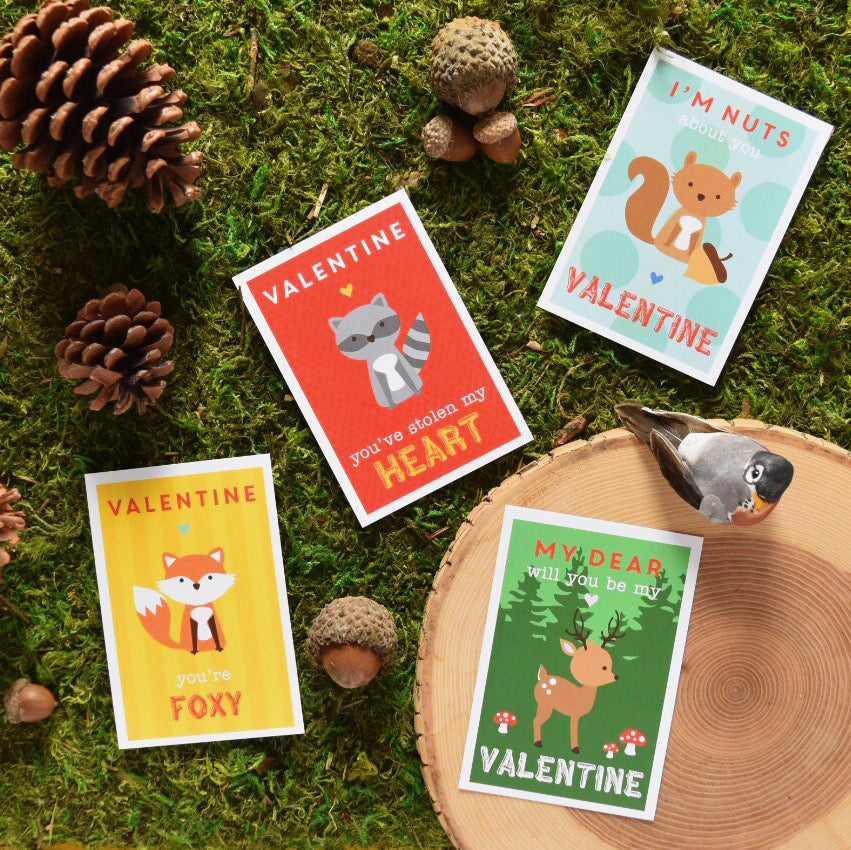 Punny Woodland Valentines by barquegifts.com