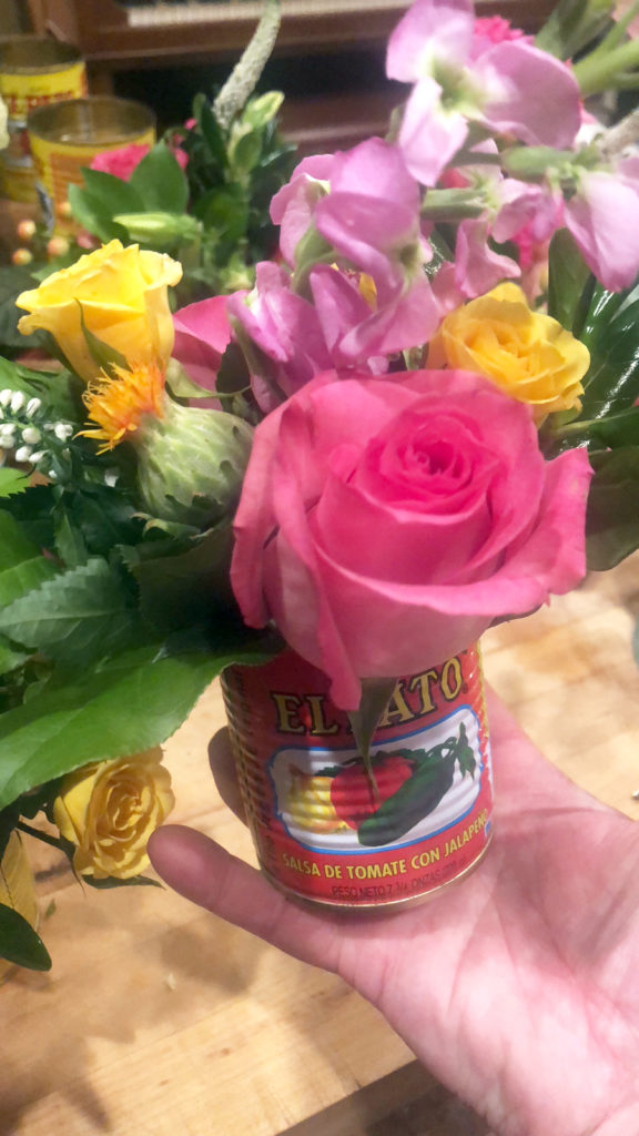 Fiesta Flowers in a Can on barquegifts.com