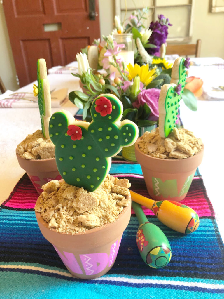 Fiesta Tablescape with Cactus Cookie Placecards on barquegifts.com