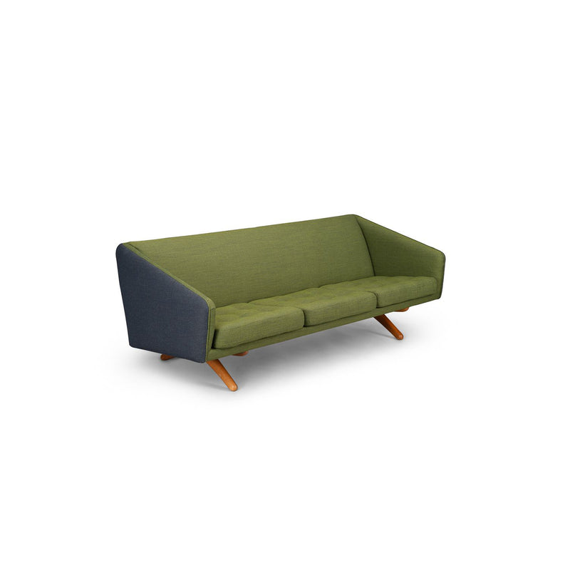 3-seater Sofa Mid-century Green Model Ml-90 by Illum Wikkelsø for Michael Laursen, 1960s