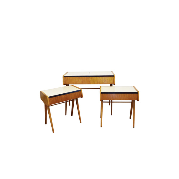 Bedroom Set of 3 by František Jirák, 1960's