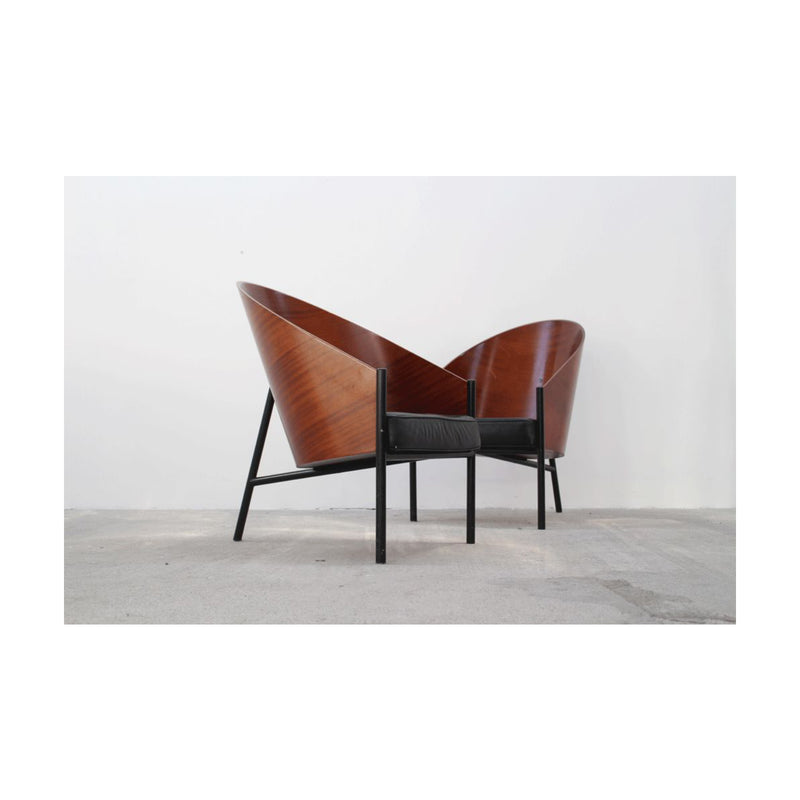 Pair of Vintage Armchairs Model Pratfall Costes by Philippe Starck,1980