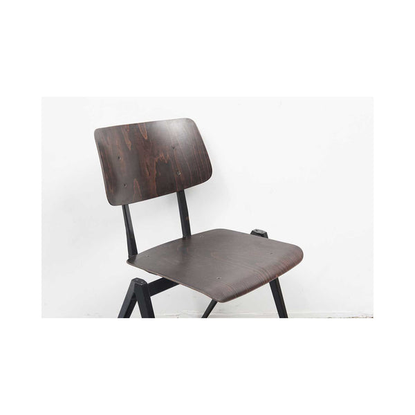 Black Vintage Dutch S16 Chair In Wood And Metal