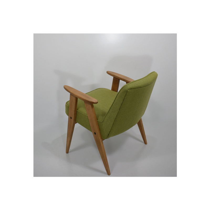 Pair of Vintage Armchairs With Compass Feet, 366 Green by J. Chierowski 1959