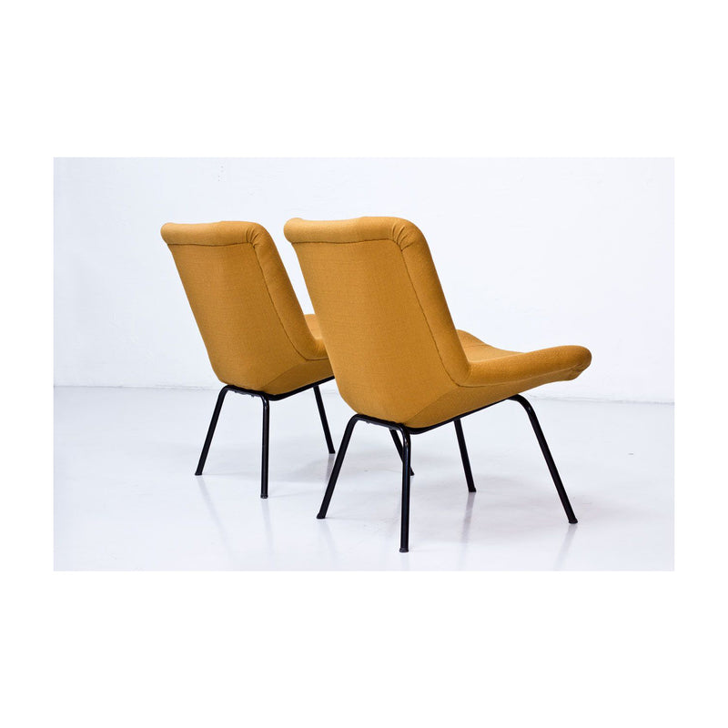 Pair of Vintage Lehti Chairs by Carl Gustaf Hiort