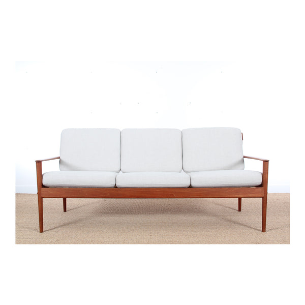 Scandinavian 3-seater Teak Bench Mode Lpj563 by Grete Jalk - 1950s