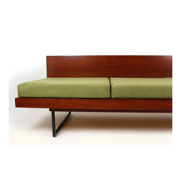 Vintage Green Sofa With Side Table, 1960s